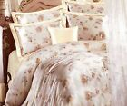 4 pcs Seamless Printed Silk Duvet Cover Fitted Sheet Pollowcases Set All Size