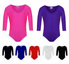 Girls Gymnastics Leotard Shiny Stretchy Dance Ballet Sports Sleeved Top Uniform