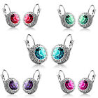 Tide 1 Pair Women Fashion Rhinestone Crystal Dangle Earrings Ear Hook Stud