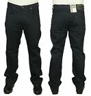 MENS LEE BROOKLYN STRETCH STRAIGHT REGULAR FIT IN DARK GREY COLOUR JEANS 30 - 42