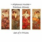 Deluxe Art Nouveau Decorative Print by Artdash® ~ A. Mucha  PRECIOUS STONES