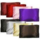 "100% Satin Pillow Cover Fabric Pillowcase Silky 20""x29"" Standard Size 1PC *Pick1"