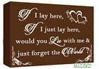 If I Lay Here - Snow Patrol QUOTE Canvas Wall Art Picture Print  Chocolate Brown