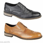 New Roamers Brouge Dress Casual Wingtip Mens Lightweight leather Shoes Boots
