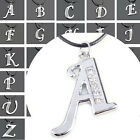 New hot item letters Initials Luxurious Silver Tone Crystal Pendant Necklace