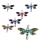 new arrival Fashion Dragonfly Charms Necklace Chain Rhinestone Inlaid Pendant