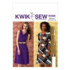 Kwik Sew 4026 A-line Pullover Dress Draped Neckline Sleeves Sewing Pattern K4026