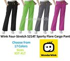 Wink Four-Stretch 5214 TALL Sporty Cargo Scrub Pant All Sizes & Colors Free Ship