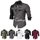 NEW Fashion Men's New Sexy Cotton Casual Long Sleeve Slim Shirts M/L/XL/XXL/XXXL