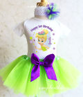 Tinkerbell Fairy Pixie Baby Girl 1st First Birthday Tutu Out