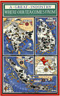 Where Our Tea Comes From 1937  Pictorial Map Reprint