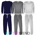 Boys Fleece Lined Round Neck Sweater Tracksuit Kids Jogging Suit Outfit Set