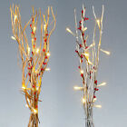 LED TWIG LIGHTS WITH BERRIES - HOME ACCESSORY FAIRY LIGHTING DECORATIONS