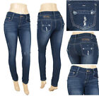 NWT Junior stretch denim skinny jeans,  dark denim wash,  natural aged,  WD-15404