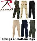 Army Camouflage Solid 6-Pocket Military Tactical Rip-Stop Cargo Pants BDU Pants