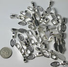 Silver Glue on Flat Pad Necklace Bails, Choose Quantity, Jewellery Findings UK