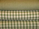 Spring Green And Tea Dye Cotton Homespun Fabric | Chose Pattern And Yardage