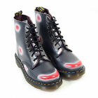 Dr Martens Women's Pascal Multi Colour Rub Off Leather Lace Up Boot Navy