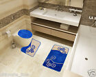 Bath Mat Toilet Rug Set 2 & 3 piece Non-Slip Bathroom Pedestal Washable
