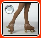 OVER THE BOOT ICE ROLLER SKATING TIGHTS + DMC GRADE A CRYSTALS CLEAR VARIOUS SZS