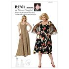 Butterick 5761 Connie Crawford Dress Straps Wrap Sewing Pattern Plus Size B5761