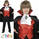 KIDS BLACK DRACULA VAMPIRE & CAPE - all ages 7-12 years - boys fancy dress