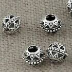 Jewelry Findings Tibetan Silver 12mm Hole 4.5mm Round Hollow Beads AD-45661