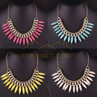 New Women Fashion Crystal Pendant Chain Choker Chunky Statement Bib Necklace
