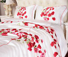 100% Silk Duvet Cover Printed Silk Comforter Quilt Cover Twin Full Queen