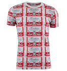 MOSCHINO T-Shirt Rot Weiß Red White Rouge Blanc 03343