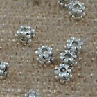Jewelry Findings Tibetan Silver 4mm Hole 1.5mm Snowflake Spacers Beads YJ-157