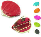 Genuine Eel Skin Double Clip Change Coin Women's Pouch Purse Wallet New