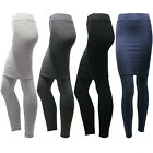 Women's cotton blended solid color footless Long Straight pencil Skirt leggings