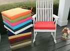 """18""""X17""""X2"""" Foam Cushion Pad for Rocker Rocking Chair  -  SOLID COLORS - Outdoor"""