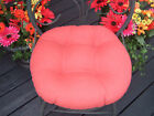 "20"" ROUND INDOOR OUTDOOR BISTRO CHAIR CUSHION - CHOICE OF SOLID COLORS"