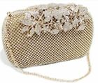 Unique Clasp Bling Diamante Crystal Diamond Evening bag Clutch Purse Party Prom