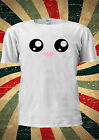 Cute Kawaii Eyes Funny Kitty Kitten T-shirt Vest Top Men Women Unisex 1910