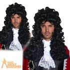 Authentic Pirate Wig Mens Captain Hook Long Black Fancy Dress Outfit