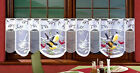 CAFE NET CURTAIN-BIRDS DESIGN-MULTI COLOUR SOLD BY METERS