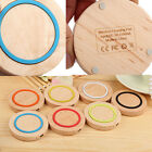 Tide For Galaxy Note 4 3 S5/4/3 Nexus 4/5 iPhone Qi Wireless Charger Wood Pad