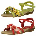 Girls Spot On Summer Bow Front Sandals H1062