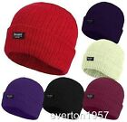 Ladies Girls Chunky Knitted 3M Thinsulate Insulated Lining Winter Hats One Size