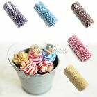 100Yard Cotton Bakers Twine Stripe Wedding Party Roll Favour Gift Craft Supplies