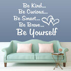 Be Kind Be Yourself Wall Quote Sticker Room Living Bedroom Diy Decal Mural A256