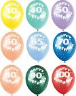 Happy Birthday Age Balloons - Helium - Assorted Colours  - Adult