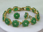 6 colors Noble Charming Jewelry green red jade link Earrings Bracelet Set A583