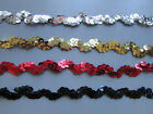 Ric Rac Sequin Trim Black/Red/Gold/Silver  1cm   Sewing/Craft/Costume/Corsetry