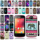 For BLU Dash JR 4.0 D142 Cute Design TPU SILICONE Rubber Case Phone Cover + Pen