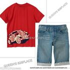 NWT CRAZY 8 Lot Boys 10-12 Red Car T-shirt Denim Shorts Jeans Set Outfit NEW