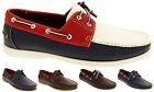 Mens SHORESIDE Boat Lace Up Loafers Casual Smart Deck Shoes NEW Size 7 8 9 10 11